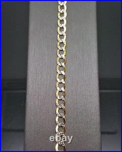10K Gold Bracelet Real Cuban Link Solid Diamond Cut 5mm 8 Inch REAl Yellow Gold