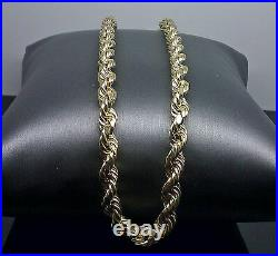 10k Gold Chain Men 6mm 26 Inch Men Real Thick Rope