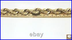 10k Real Gold Rope Chain Necklace 20 Inch, 15mm, Cuban, Men, thick chain Brand NEW