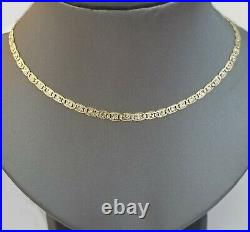 14KT SOLID Trio Yellow White Rose Gold 3mm Diamond Cut Women Chain 18 Real Gold