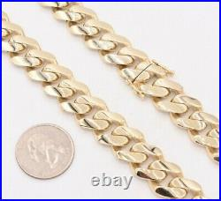 15mm Mens Miami Cuban Royal Link Chain Necklace Box Clasp Real 10K Yellow Gold
