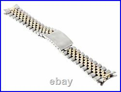20mm 14k Real Gold T/tone Jubilee Watch Band For Rolex Datejust 1601 1603 16233