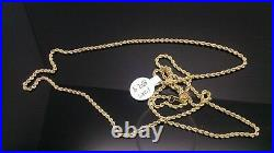 Brand New Real 10K Yellow Gold Rope Chain Necklace 22 Inch Men Women