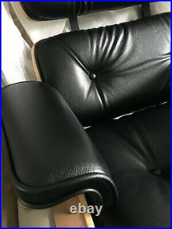 Genuine Brand New Herman Miller Eames Lounge Chair And Ottoman Black And Walnut
