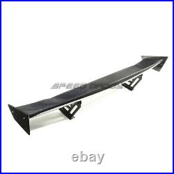 Nrg Real Carbon Fiber Gt Style 59 Racing Rear/back Trunk Spoiler/wing+brackets