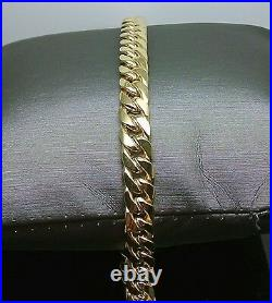 REAL 10K Yellow Gold Miami Cuban Link Bracelet 7mm 8 Inch