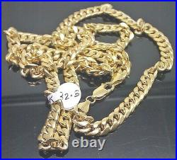 REAL 10K Yellow Gold Miami Cuban Link Chain Necklace 7mm 28 Inch