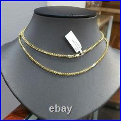 REAL 10k Gold Franco Gold Chain Necklace, 26 inch, 2mm diamond cuts, rope, cuban, N