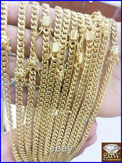 REAL 10k Gold Men 6mm Miami Cuban Chain Necklace Box Clasp Lock 30 Inch 10k