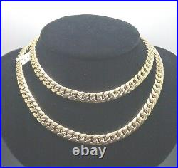 REAL 10k Yellow Gold Miami Cuban Link Chain 7mm 24 inch Box Lock Clasp Necklace