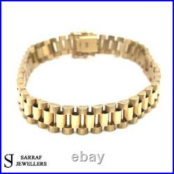 ROLEX STYLE Bracelet 375 9CT Yellow SOLID Gold Genuine BRAND NEW GIFT 10MM 27GR