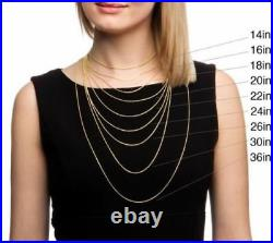 Real 10K Solid Yellow Gold 2.5mm Diamond Cut Rope Chain Pendant Necklace 16-30
