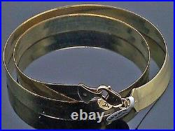 Real 10K Solid Yellow Gold Chain Herringbone Necklace 10mm Thick 22 inch Length