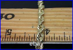 Real 10K Yellow Gold Rope Bracelet 5mm 8 Inch, Mens Ladies READY TO SHIP