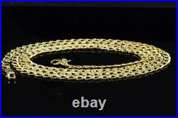 Real 10K Yellow Gold Unisex Diamond Cut Curb Cuban Chain 3.50mm Necklace 26 Inch