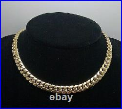 Real 10k Gold Miami Cuban Chain 7mm 30 Inch Box Lock Strong Link 10kt Yellow Gld