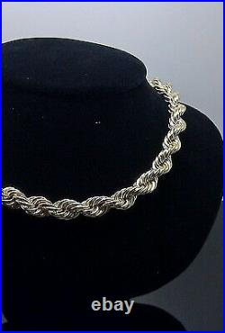 Real 10k Gold Rope Chain Necklace Thick 24 Inch 8mm diamond cut