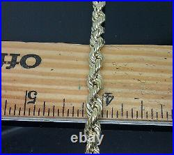 Real 10k Men Yellow Gold Rope Chain Necklace 6mm 30 Inch