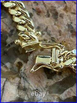Real 10k Yellow Gold Mens Miami Cuban Link Chain Necklace Thick 6mm Box Lock