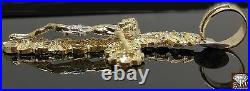 Solid Real 10k Gold Nugget Jesus Crucifix Cross Pendant Charm 4 Inch